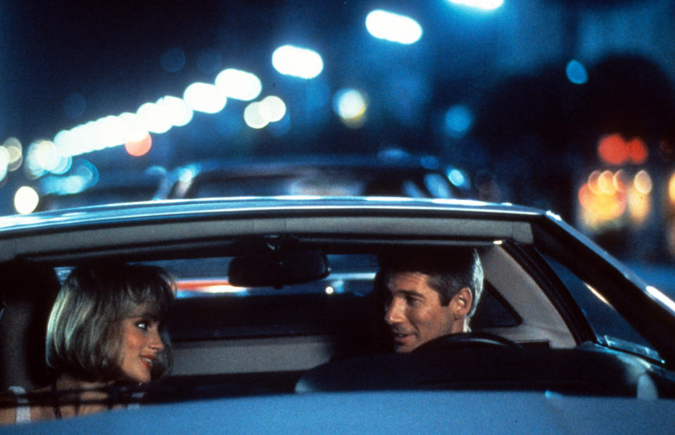 Julia Roberts rides with Richard Gere in a scene from the film 'Pretty Woman', 1990. (Photo by Buena Vista/Getty Images)