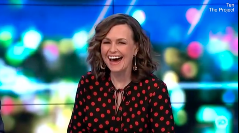 Lisa Wilkinson in a polka dot top