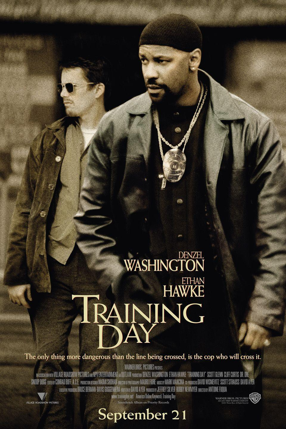 <p>Released on October 5, 2001, Training Day's depiction of a rookie cop in the LAPD is far too relevant today. Denzel Washington won the Academy Award for Best Actor for his role. He was supported in good company by Ethan Hawke and Eva Mendes.</p>