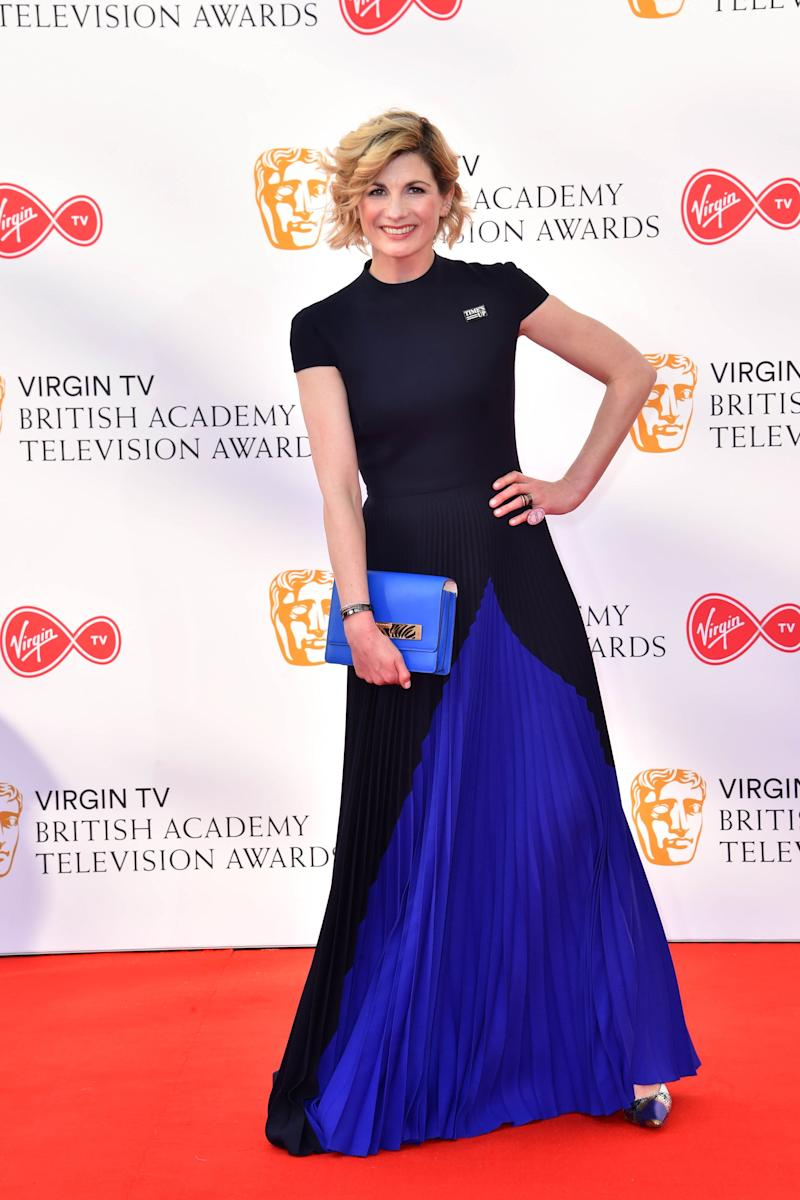 Jodie Whittaker attending the Virgin TV British Academy Television Awards 2018 held at the Royal Festival Hall, Southbank Centre, London.