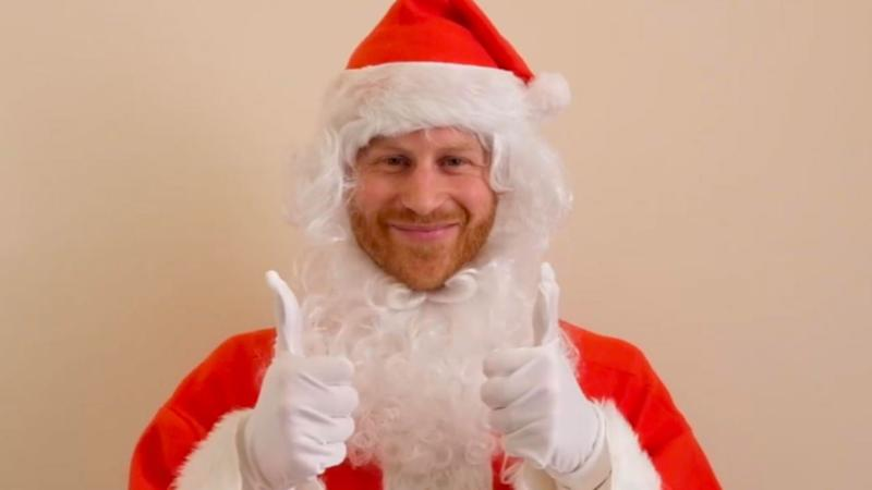 Prince Harry Dresses Up as Santa Claus for Children of Fallen Soldiers