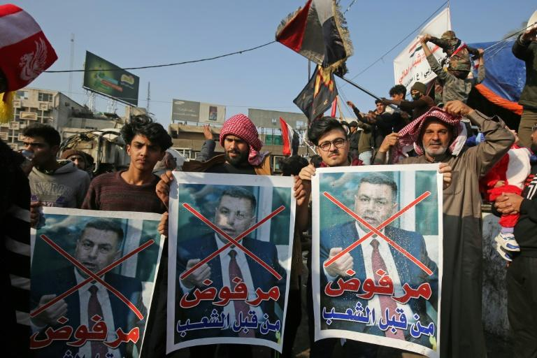 Iraqi protesters have rejected the candidates for prime minister proposed by a pro-Iran coalition (AFP Photo/AHMAD AL-RUBAYE)