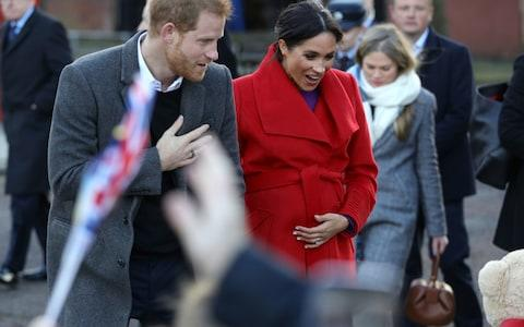 The Duke and Duchess of Sussex are expecting their first child in the spring - Credit: PA