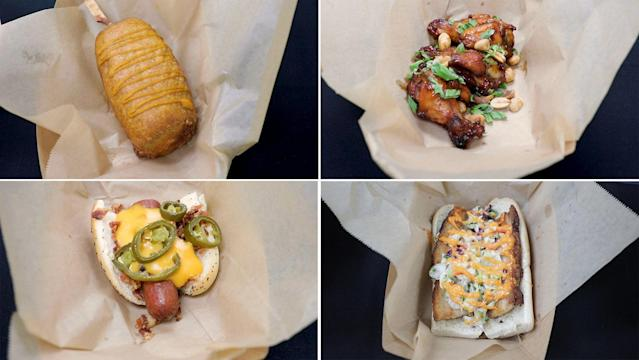 Some of the items you can sample at MLB Food Fest. (Yahoo Sports)