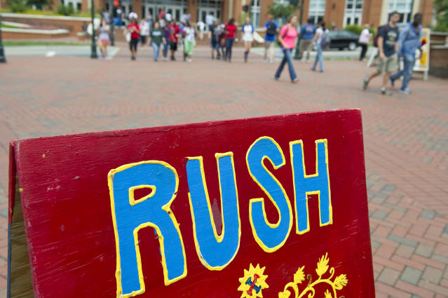 Rush week. (Photo: Getty Images)