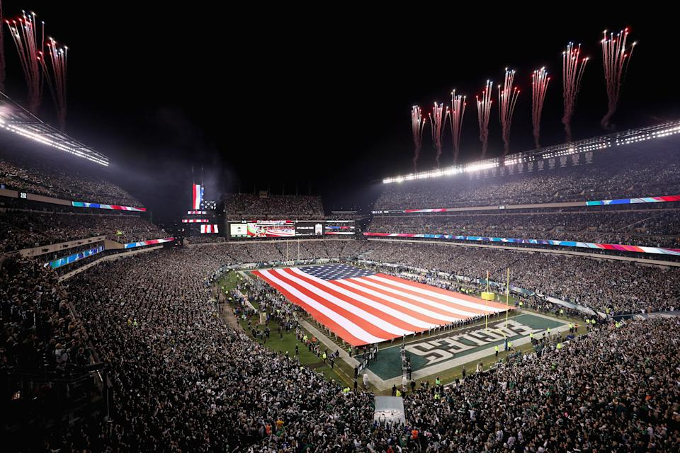 President Donald Trump tweeted out his solution to the NFL's national anthem debate on Friday, just hours after the NFL and NFLPA announced it was suspending the current policy while both sides meet to discuss how to resolve the issue. (Getty Images)
