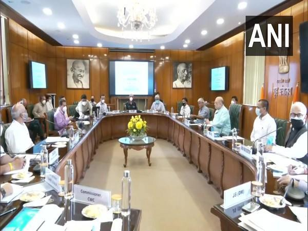 Union Home Minister Amit Shah on Tuesday chaired a meeting to review preparation for the monsoon and flood situation in the country.