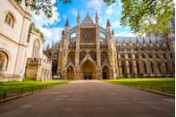 Westminster Abbey - Collegiate Church of St Peter at Westminster in London, UK. Heritage sites around the world are under threat due to conditions created by climate change. Increased risk for floods or fire put some of the world's most famous monuments and locations in jeopardy. (Getty)