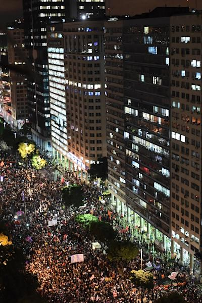 Students and teachers from hundreds of universities and colleges across Brazil demonstrated against President Jair Bolsonaro's education cuts (AFP Photo/MAURO PIMENTEL)