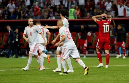 Soccer Football - World Cup - Group B - Iran vs Spain - Kazan Arena, Kazan, Russia - June 20, 2018 Iran's Karim Ansarifard reacts after missing a chance to score REUTERS/Jorge Silva