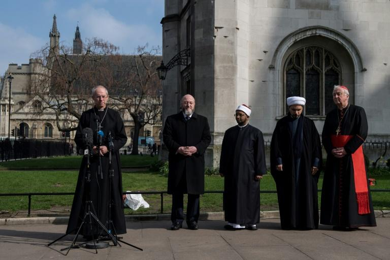 Faith leaders including Archbishop of Canterbury Justin Welby, the chief rabbi and the chief imam of London's central mosque gathered to remember the victims together