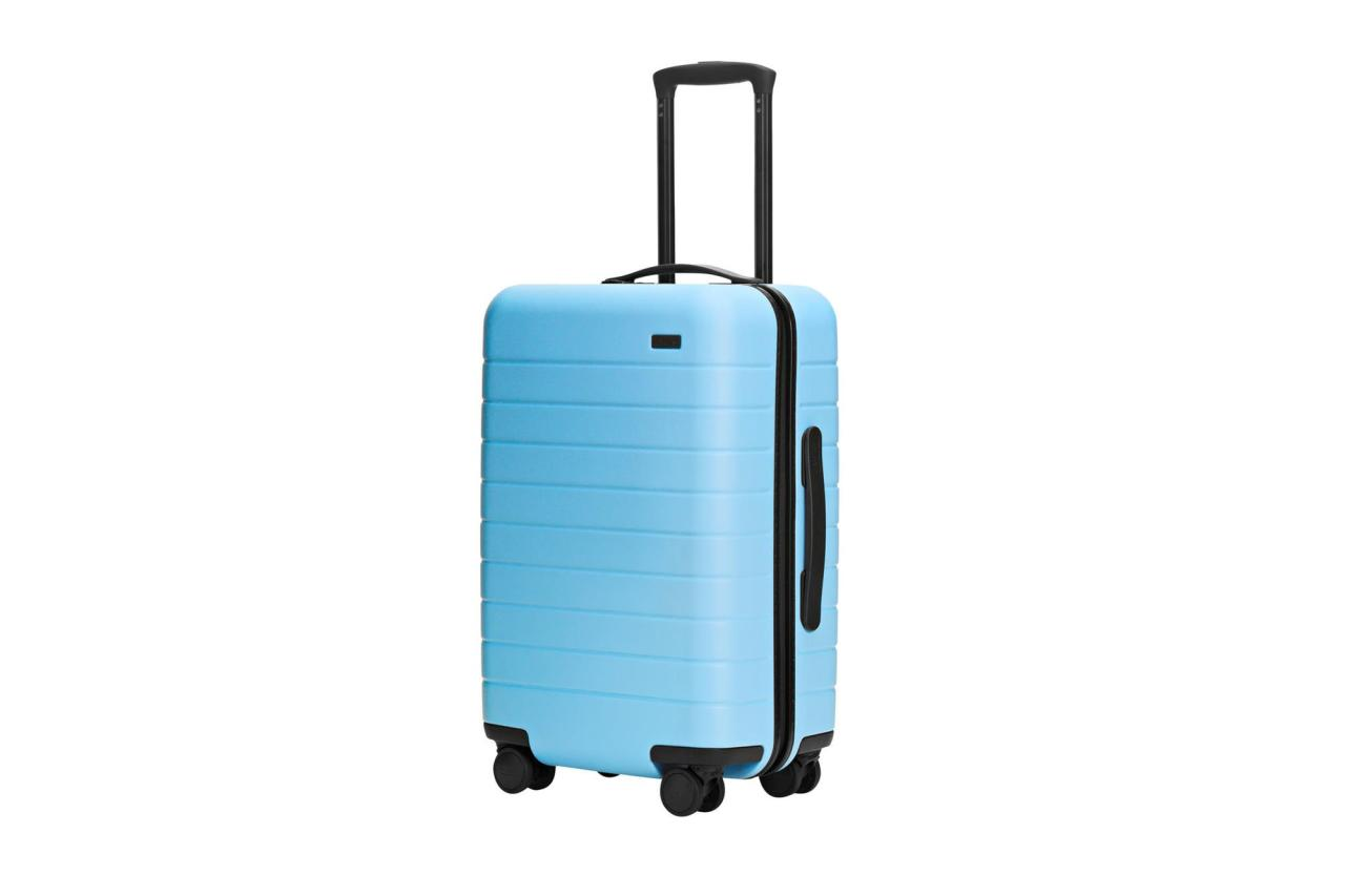 "The built-in charger and 360-degree spinner wheels make toting this hard-case suitcase a joy. The snap-in laundry bag means unpacking is less terrible.  <strong>Buy It!</strong> $225; <a rel=""nofollow"" href=""http://www.pntra.com/t/8-11514-131940-155614?sid=PEO%2CPEOPLETravelAwards2019%3ATheBestBags%2CAccessoriesandAppsoftheYear%2Cmackenziecschmidttimeinc%2CUnc%2CGal%2C7063394%2C201905%2CI&url=https%3A%2F%2Fwww.awaytravel.com%2Fsuitcases%2Fcarry-on"" rel=""nofollow"">awaytravel.com</a>"