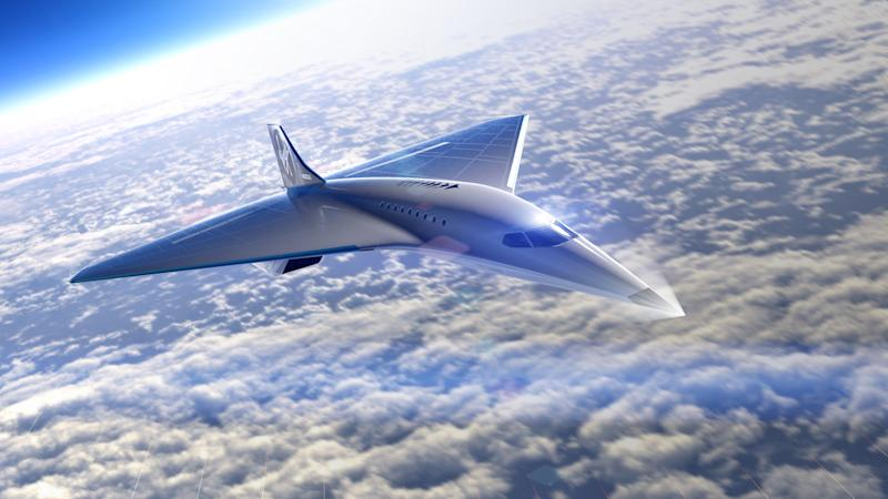 An artist's impression of the Virgin Galactic plane capable of speeds of Mach 3 (PA)