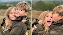 <p>January 2020: Mary and Frederik's twins Josephine and Vincent cuddle up to celebrate their ninth birthday. Photo: Instagram/detdanskekongehus.</p>