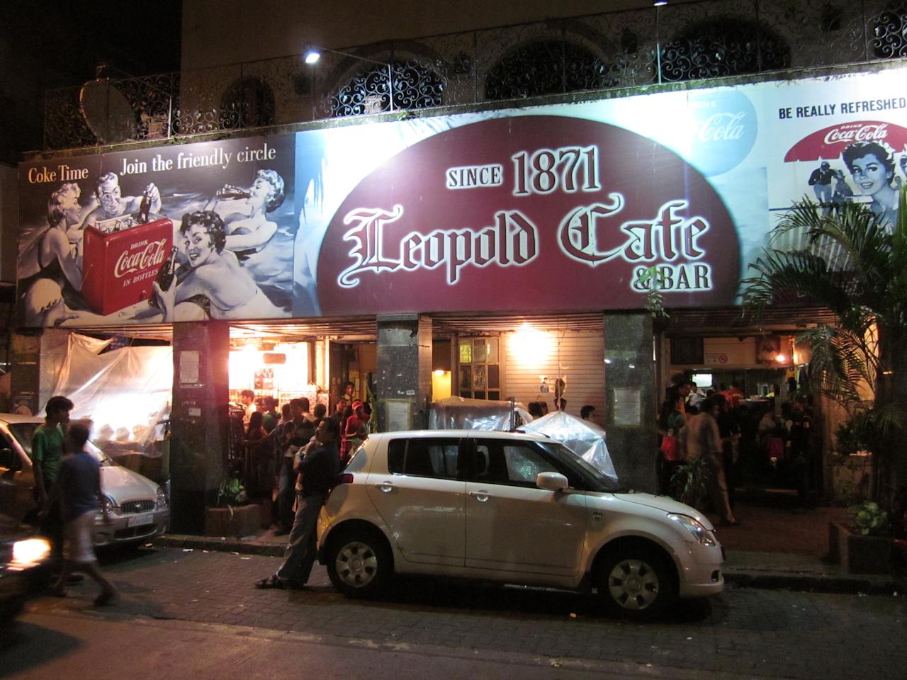 The bar along Mumbai's famous Colaba Causeway is also one of the symbols of the city's resilience. One of the many spots to have come under attack on November 26, 2008, Leopold forms an important part of the narrative in Gregory David Roberts' novel Shantaram. From burgers to desserts and a small menu of alcohol, Leo's is the classic watering hole of yore. Photograph: Shankar S/Flickr