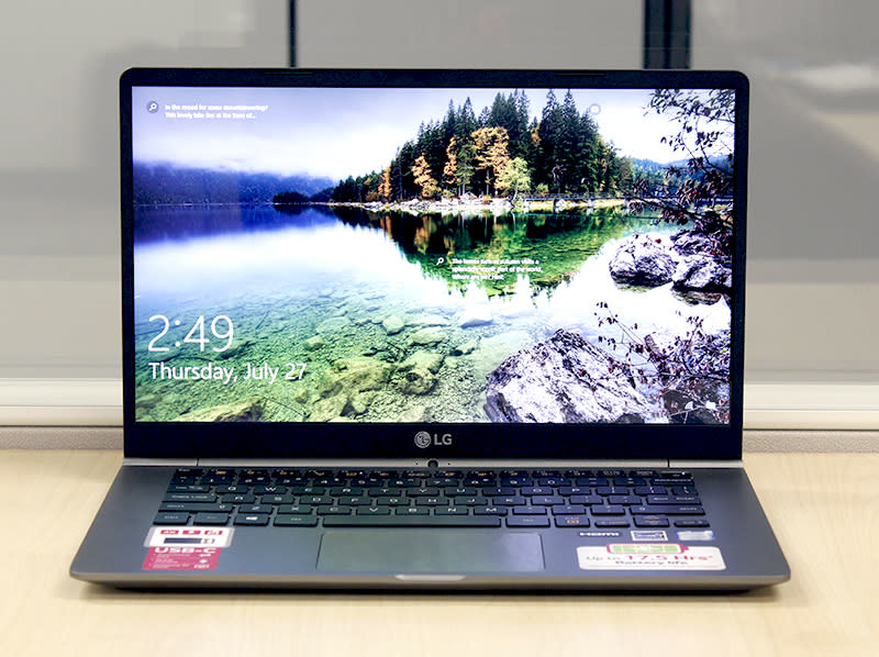 The LG gram 14 is easily one of the lightest notebooks with a 14-inch display. It weighs just 980g.