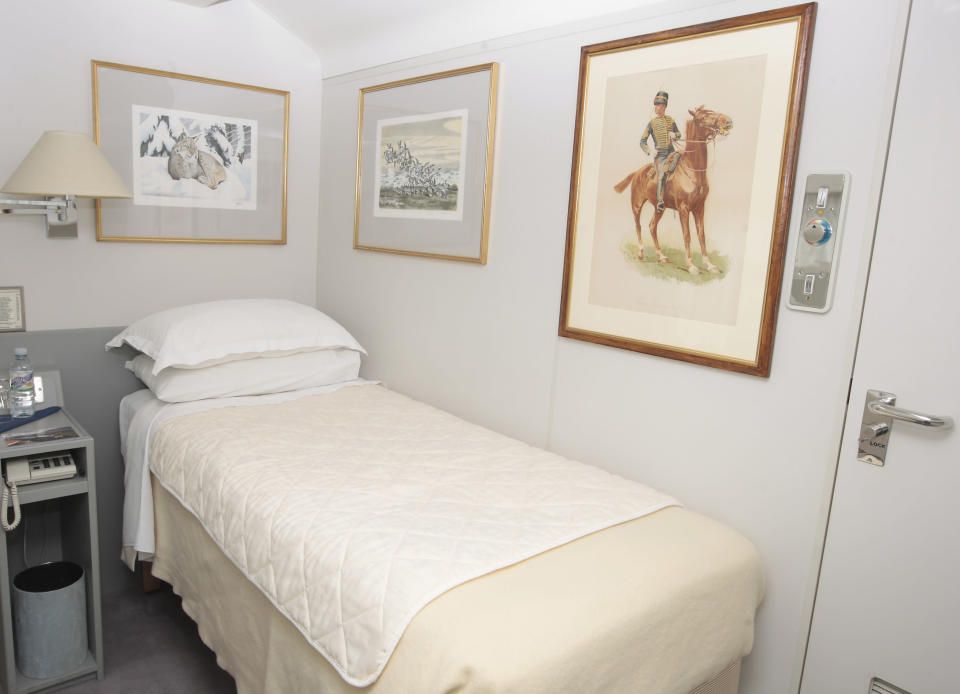 A sneak peek at one of the bedrooms designed for members of staff onboard the train [Photo: Getty]