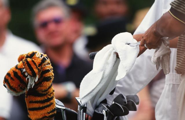 "<h1 class=""title"">Tiger Woods' Headcover During The 1997 Masters Tournament</h1> <div class=""caption""> The clubs Tiger used at the 1997 Masters Tournament </div> <cite class=""credit"">Augusta National</cite>"