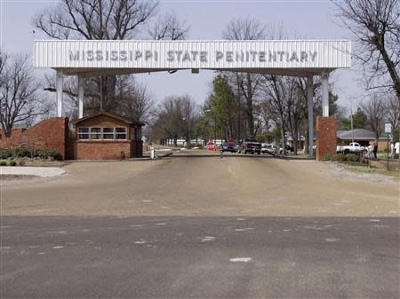 The entrance of the Mississippi State Penitentiary is seen in an undated photo provided by the Mississippi Department of Corrections in Parchman, Mississippi. REUTERS/Mississippi Department of Corrections/Handout via Reuters