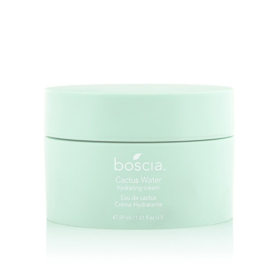"""<p>This <a href=""""https://www.allure.com/story/boscia-cactus-water-moisturizer?mbid=synd_yahoo_rss"""" rel=""""nofollow noopener"""" target=""""_blank"""" data-ylk=""""slk:creation from Boscia"""" class=""""link rapid-noclick-resp"""">creation from Boscia</a> looks a bit like Flubber, if Flubber were a chic shade of mint green. Goopy as it may appear, the formula absorbs as quickly as water in a desert. And yes, it does contain actual cactus water, which is reportedly good for your skin whether you <a href=""""https://www.allure.com/story/cactus-water-skin-benefits?mbid=synd_yahoo_rss"""" rel=""""nofollow noopener"""" target=""""_blank"""" data-ylk=""""slk:drink the stuff"""" class=""""link rapid-noclick-resp"""">drink the stuff</a> or apply it topically.</p> <p><strong>$38</strong> (<a href=""""https://www.sephora.com/product/cactus-water-moisturizer-P432254"""" rel=""""nofollow noopener"""" target=""""_blank"""" data-ylk=""""slk:Shop Now"""" class=""""link rapid-noclick-resp"""">Shop Now</a>)</p>"""