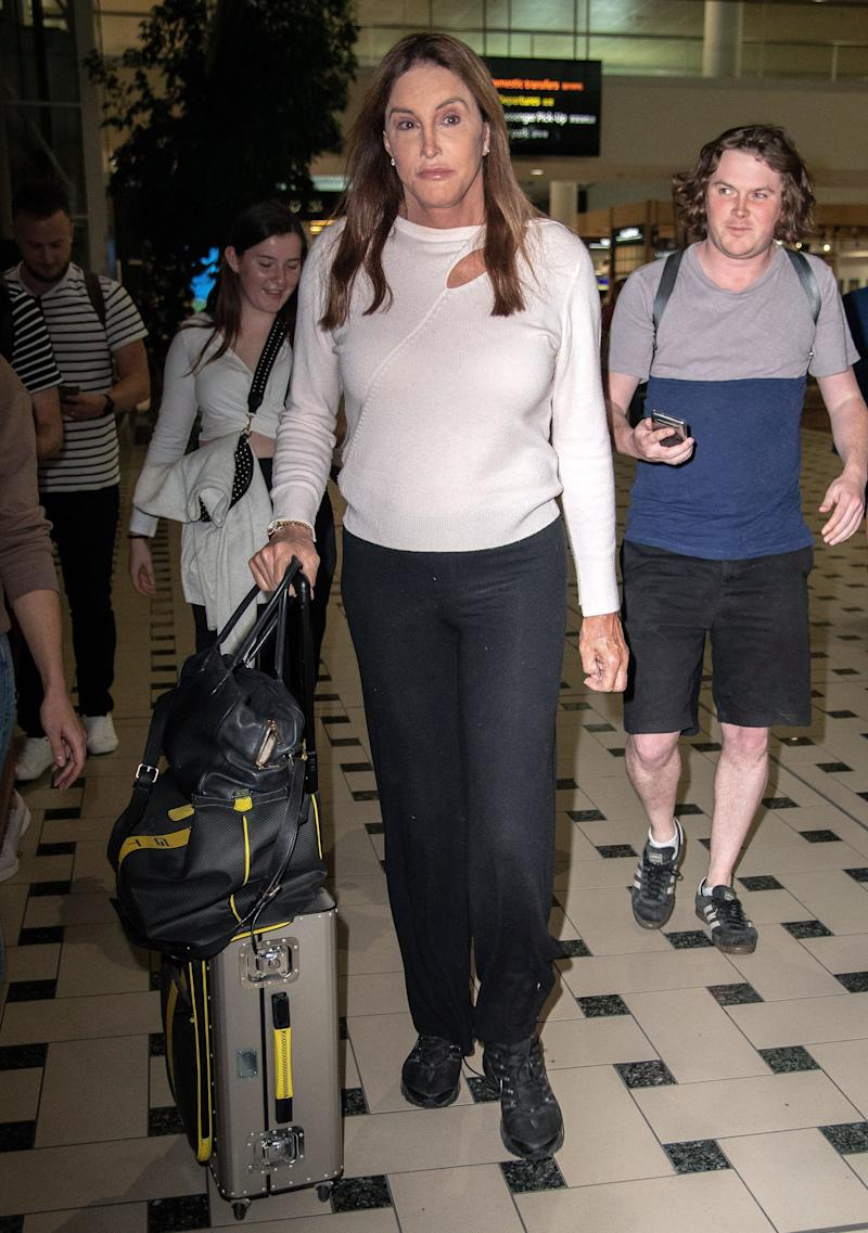 Caitlyn Jenner arrives at Brisbane Airport, Australia (Photo: James Gourley/ITV/Shutterstock)