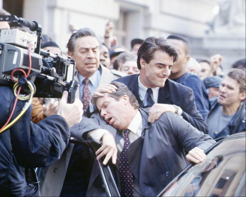 """Jerry Orbach, Chris Noth and Daniel Hugh Kelly in Dick Wolf's crime drama """"Law & Order."""""""