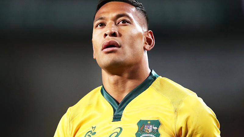 Israel Folau, pictured here in action for the Wallabies in 2018.
