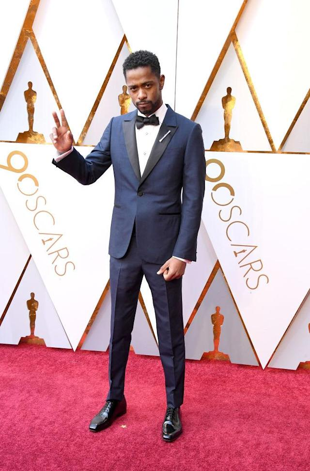 <p>Lakeith Stanfield attends the 90th Academy Awards in Hollywood, Calif., March 4, 2018. (Photo: Getty Images) </p>