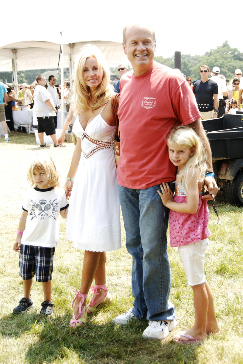WATERMILL, NY - JULY 26: (L-R) Camille Grammer, Kelsey Grammer and Children attend DONNA KARAN, InStyle Magazine & KELLY RIPA host SUPER SATURDAY 11 to Benefit Ovarian Cancer Fund (OCRF) at Nova's Ark Project on July 26, 2008 in Watermill, NY. (Photo by BILLY FARRELL/Patrick McMullan via Getty Images)