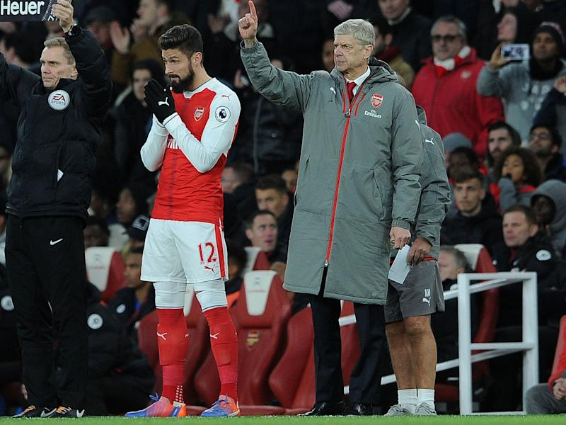 Giroud has lost his place to Alexis Sanchez for the majority of the season: Getty