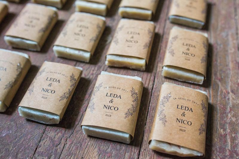 Mini Wedding Soap Favors - Rustic Guest Soaps