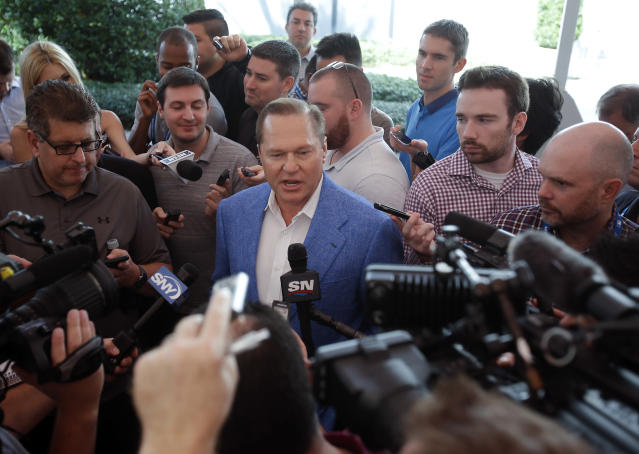 Scott Boras' annual forum at the Winter Meetings went as you would expect. (AP Photo/John Raoux)