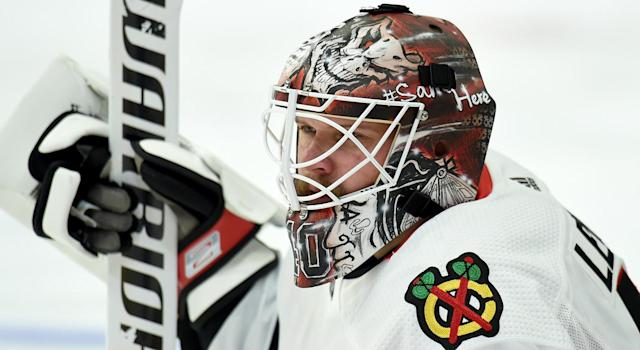 Robin Lehner is advocating for mental health education for NHL coaches. (Photo by Adam Pantozzi/NHLI via Getty Images)