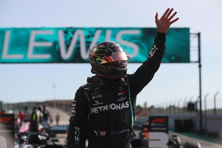 Hamilton on pole in Portugal