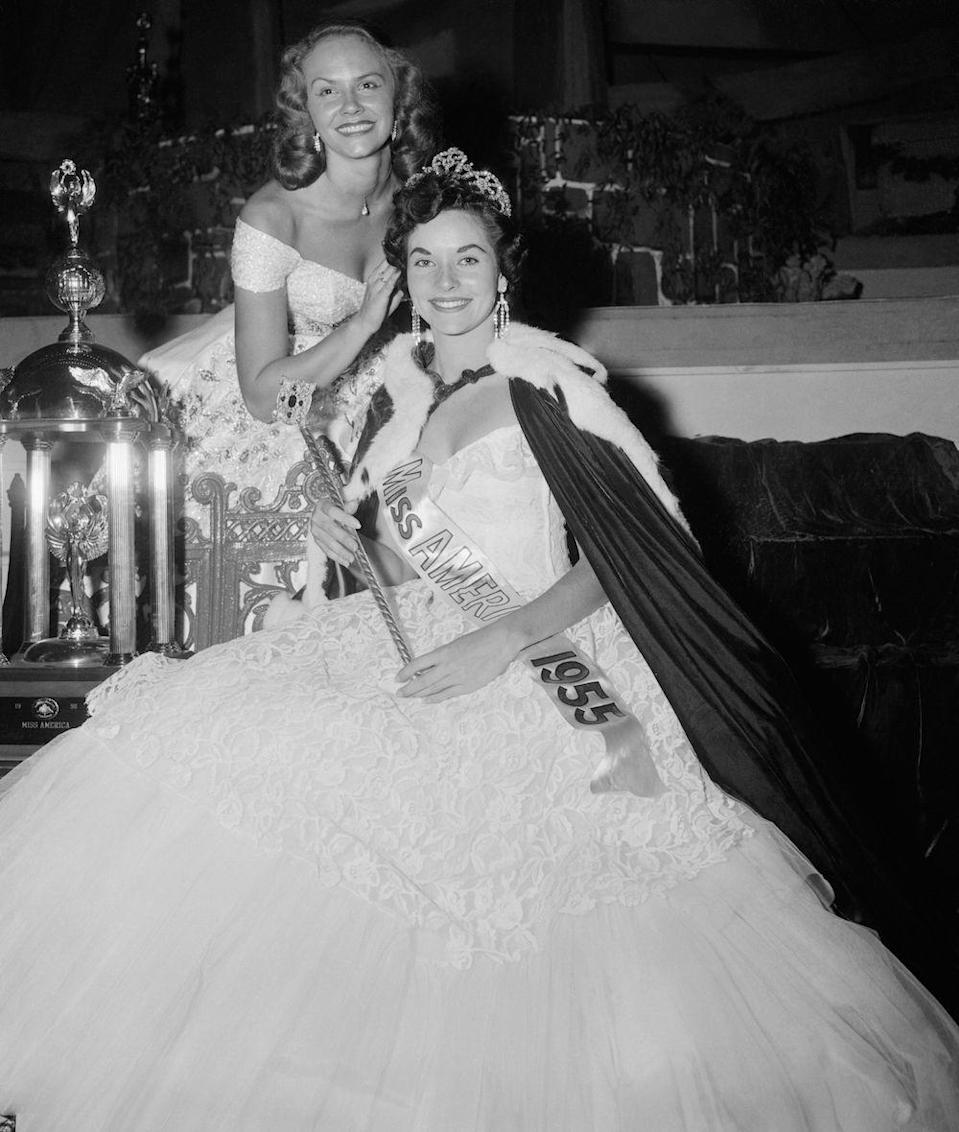 "<p>The Miss America Pageant is broadcast on television for the first time on September 11, with Lee Ann Meriwether (Miss California) winning the crown. </p><p><em>RELATED: <a href=""https://www.goodhousekeeping.com/beauty/fashion/g22759536/miss-america-the-year-you-were-born/"" rel=""nofollow noopener"" target=""_blank"" data-ylk=""slk:A Look at 'Miss America' Through the Years"" class=""link rapid-noclick-resp"">A Look at 'Miss America' Through the Years</a></em></p>"