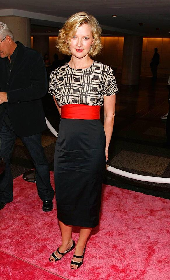 "Actress Gretchen Mol surprisingly opts for flats with her frock. The blonde bombshell can currently be seen in the Russell Crowe western ""3:10 to Yuma."" Jemal Countess/<a href=""http://www.wireimage.com"" target=""new"">WireImage.com</a> - October 17, 2007"
