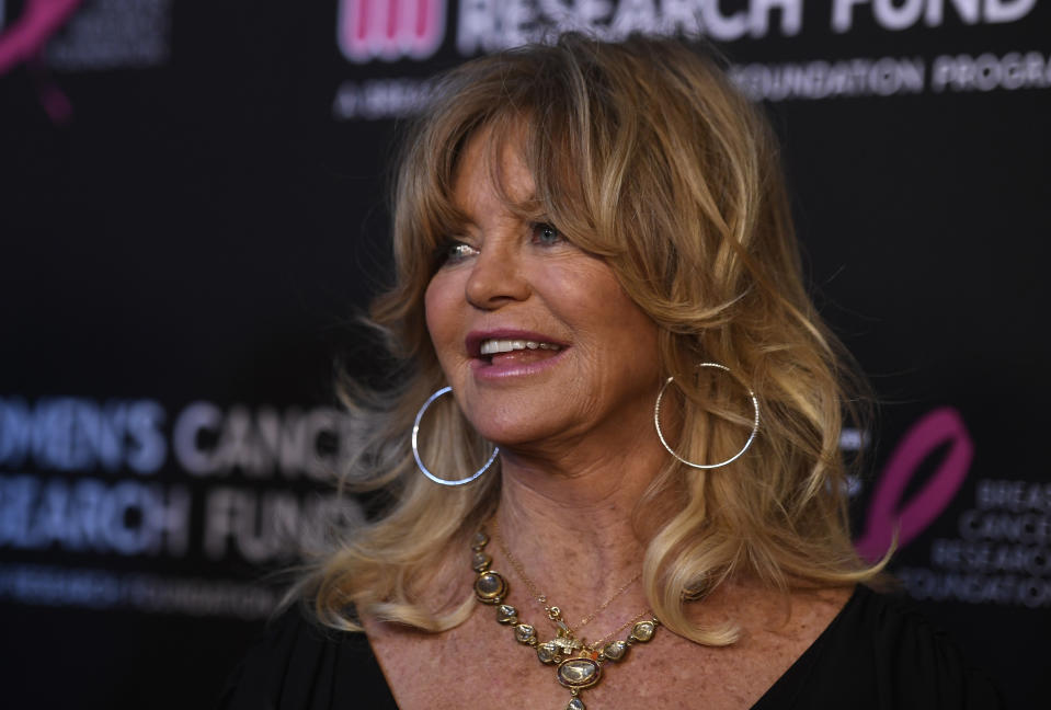 "Goldie Hawn, 73, is still being praised as an ""ageless icon."""
