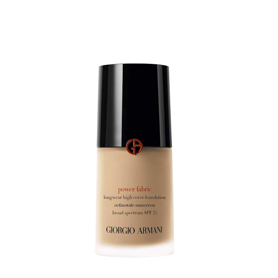 """<a href=""""https://shop-links.co/1709114193450091805"""" rel=""""nofollow noopener"""" target=""""_blank"""" data-ylk=""""slk:Armani's Luminous Silk Foundation"""" class=""""link rapid-noclick-resp"""">Armani's Luminous Silk Foundation</a> gets a lot of love, but as someone with acne, I've found it a little too sheer for my comfort. However, its sister Power Fabric offers high coverage, and while it's more matte, it still has a beautiful, luxurious finish. It's heavy duty, so tread lightly, but a little goes a long way when it comes to covering both active and healing breakouts. It also truly stays put all day. $64, Armani Beauty. <a href=""""https://shop-links.co/1708728110256919937"""" rel=""""nofollow noopener"""" target=""""_blank"""" data-ylk=""""slk:Get it now!"""" class=""""link rapid-noclick-resp"""">Get it now!</a>"""