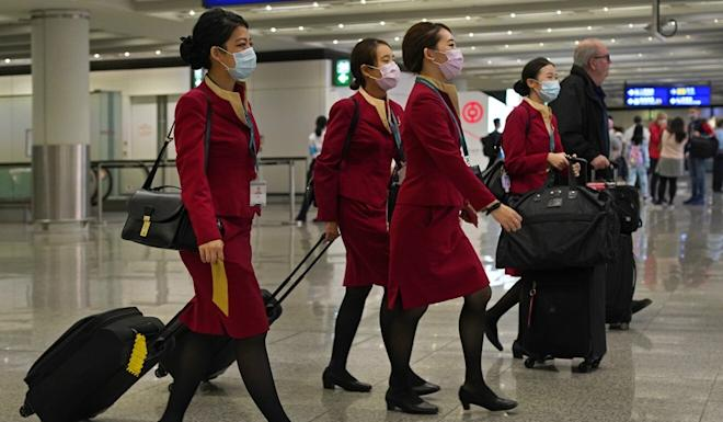 Cathay Pacific announced last week that it would not take part in a third round of Hong Kong coronavirus wage relief, opening the door for lay-offs. Photo: AP
