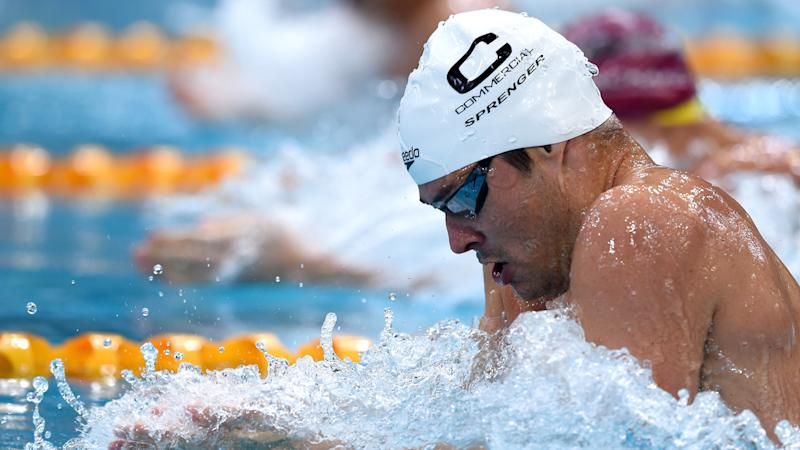 Christian Sprenger is considering his swimming future after coming up short at the national titles.
