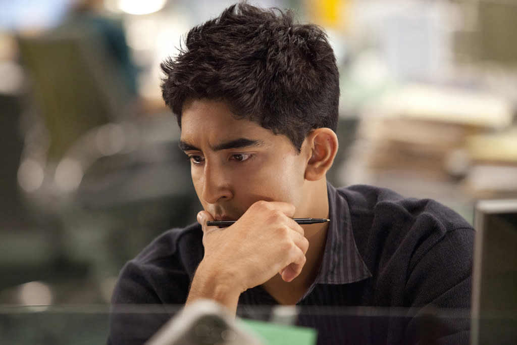 "Dev Patel in ""The Newsroom"" on HBO."