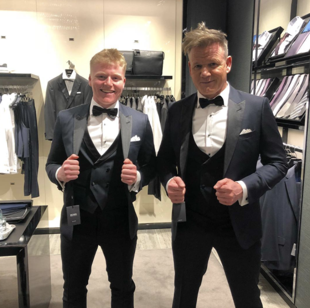 "<p>No, you're not seeing double — that's just the famous chef and his son, Jack, who are poster children for good genes runnning in the family. ""Twins,"" the <em>MasterChef</em> judge agreed. ""Getting kitted out for somebody's big 18th party."" (Photo: <a href=""https://www.instagram.com/p/BdyNiPmnMIB/?taken-by=gordongram"" rel=""nofollow noopener"" target=""_blank"" data-ylk=""slk:Gordon Ramsay via Instagram"" class=""link rapid-noclick-resp"">Gordon Ramsay via Instagram</a>) </p>"