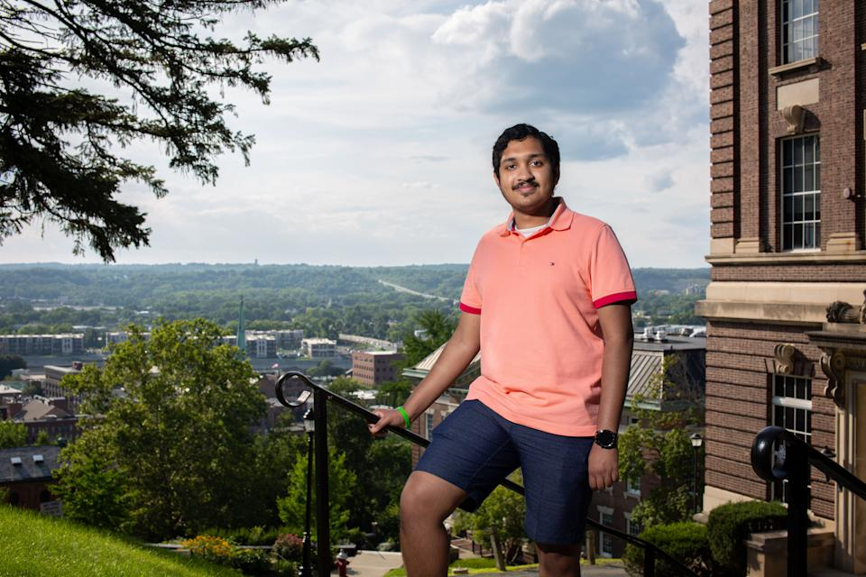 Anish Shrivastava poses for a photograph in Troy, N.Y., in July. Anish was born on Sept. 11, 2001, in Princeton, N.J., and found out at an early age the significance of his birthdate.