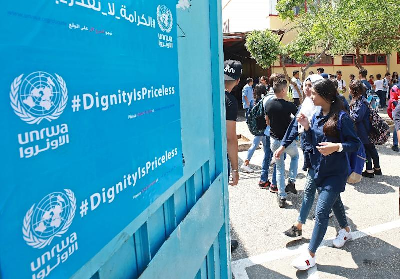 More than half a million Palestinian students across the region may lose access to their education after the United States announced it would stop backing the UN agency for Palestinian refugees, UNRWA (AFP Photo/ANWAR AMRO)
