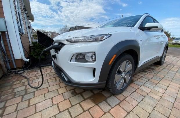 A provincial electric car rebate incentive aims to get more electric cars on the road, with the province setting a 2030 target of 20,000 electric vehicles.  (Kirk Pennell/CBC - image credit)
