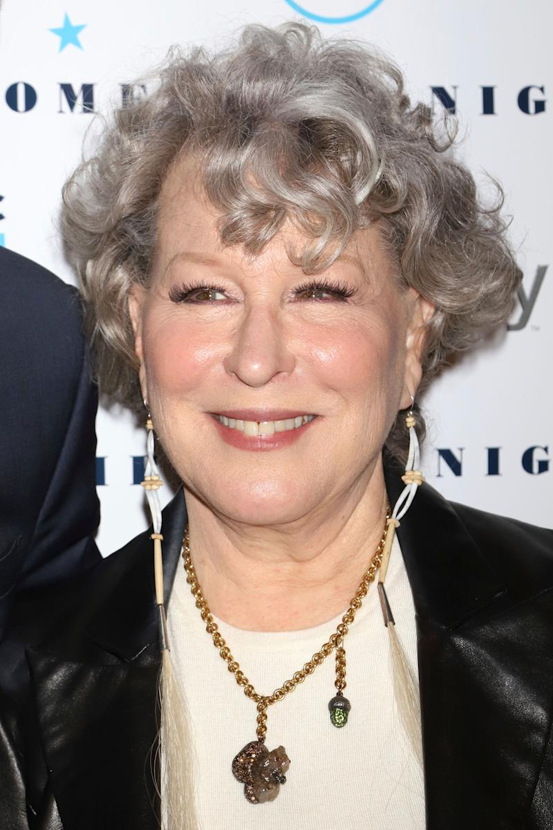 "Bette Midler attends the Natural Resources Defense Council's ""Night of Comedy"" benefit at the New-York Historical Society on Tuesday, April 30, 2019, in New York. (Photo by Greg Allen/Invision/AP)"