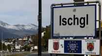 A sign marks the ski resort of Ischgl