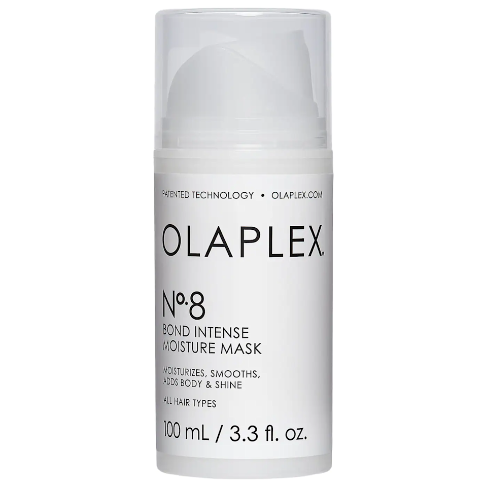 """<h2>Olaplex No. 8 Bond Intense Moisture Mask</h2><br>UK Beauty editor Jacqueline Kilkita is back at it again bringing us another viral beauty buy of the month: <a href=""""https://www.refinery29.com/en-gb/olaplex-no8-bond-intense-moisture-mask-review"""" rel=""""nofollow noopener"""" target=""""_blank"""" data-ylk=""""slk:Olaplex's No. 8 Bond Intense Moisture Mask"""" class=""""link rapid-noclick-resp"""">Olaplex's No. 8 Bond Intense Moisture Mask</a>. According to Kilkita, within minutes the hair treatment """"breathed new life"""" into her """"frazzled, split, twice-dyed lockdown hair"""", making it feel """"smooth, soft and so much easier to manage"""".<br><br><em>Shop <strong><a href=""""https://www.sephora.com/product/olaplex-no-8-bond-intense-moisture-mask-P469856"""" rel=""""nofollow noopener"""" target=""""_blank"""" data-ylk=""""slk:Sephora"""" class=""""link rapid-noclick-resp"""">Sephora</a></strong></em><br><br><strong>Olaplex</strong> No. 8 Bond Intense Moisture Mask, $, available at <a href=""""https://go.skimresources.com/?id=30283X879131&url=https%3A%2F%2Fwww.sephora.com%2Fproduct%2Folaplex-no-8-bond-intense-moisture-mask-P469856"""" rel=""""nofollow noopener"""" target=""""_blank"""" data-ylk=""""slk:Sephora"""" class=""""link rapid-noclick-resp"""">Sephora</a>"""