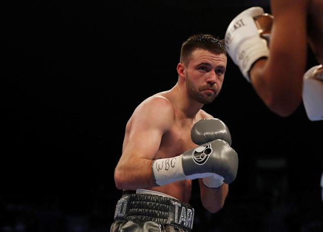 Boxing - Josh Taylor vs Winston Campos - WBC Silver Super-Lightweight Title - Glasgow, Britain - March 3, 2018 Josh Taylor in action Action Images via Reuters/Lee Smith