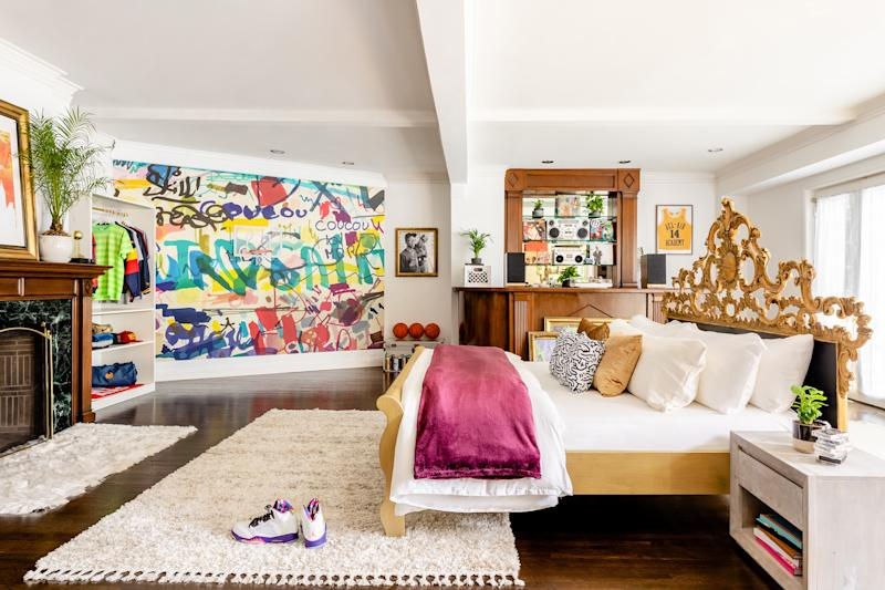 Will's wing of the Bel-Air mansion will be decorated in the classic 90's style. (Photo: Airbnb)